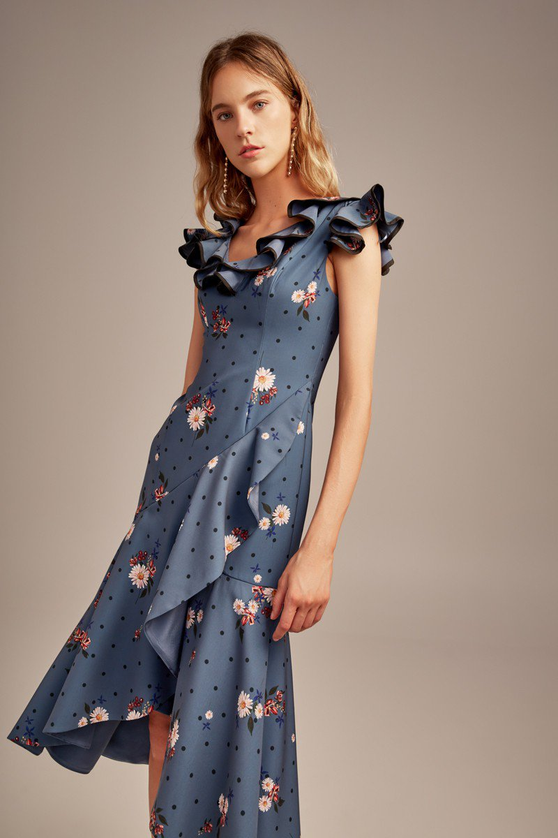 Shop Keepsake Run Free Midi Dress.