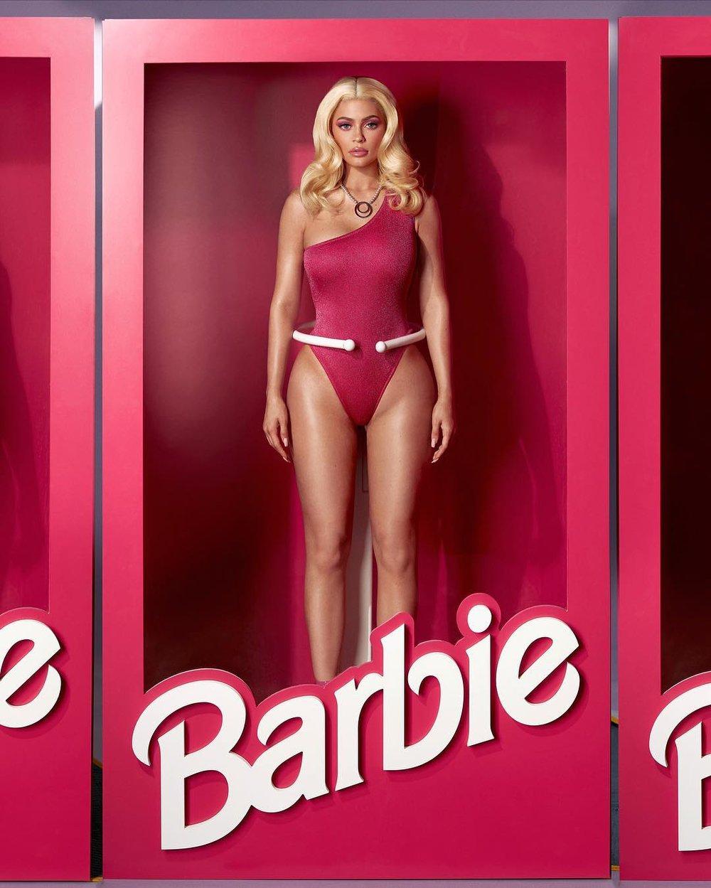 Kylie Jenner as Barbie // via instagram.com/kyliejenner