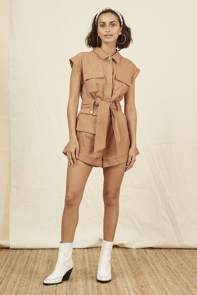 Shop Finders Keepers Utility Playsuit.