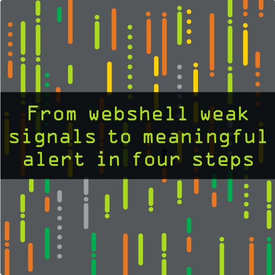 Tips  | 9 min read From webshell weak signals to meaningful alert in four steps Walk through a practical example of how you can make a weak signal actionable by combining events from your endpoint and network security technologies into one meaningful alert.