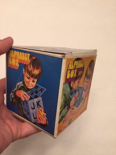 $3-Vintage Alphabet Box
