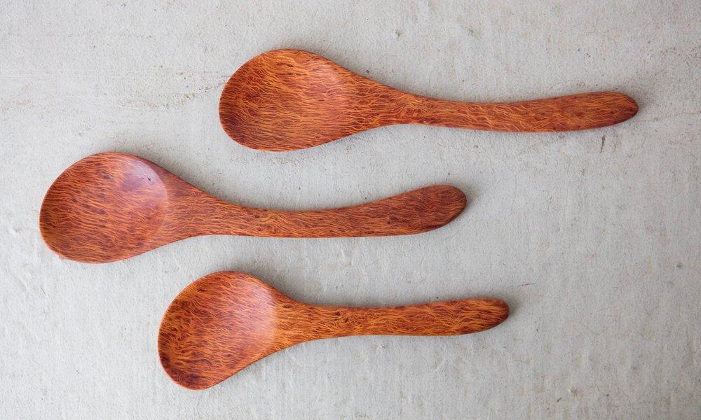 Lace Sheoak Serving Spoons