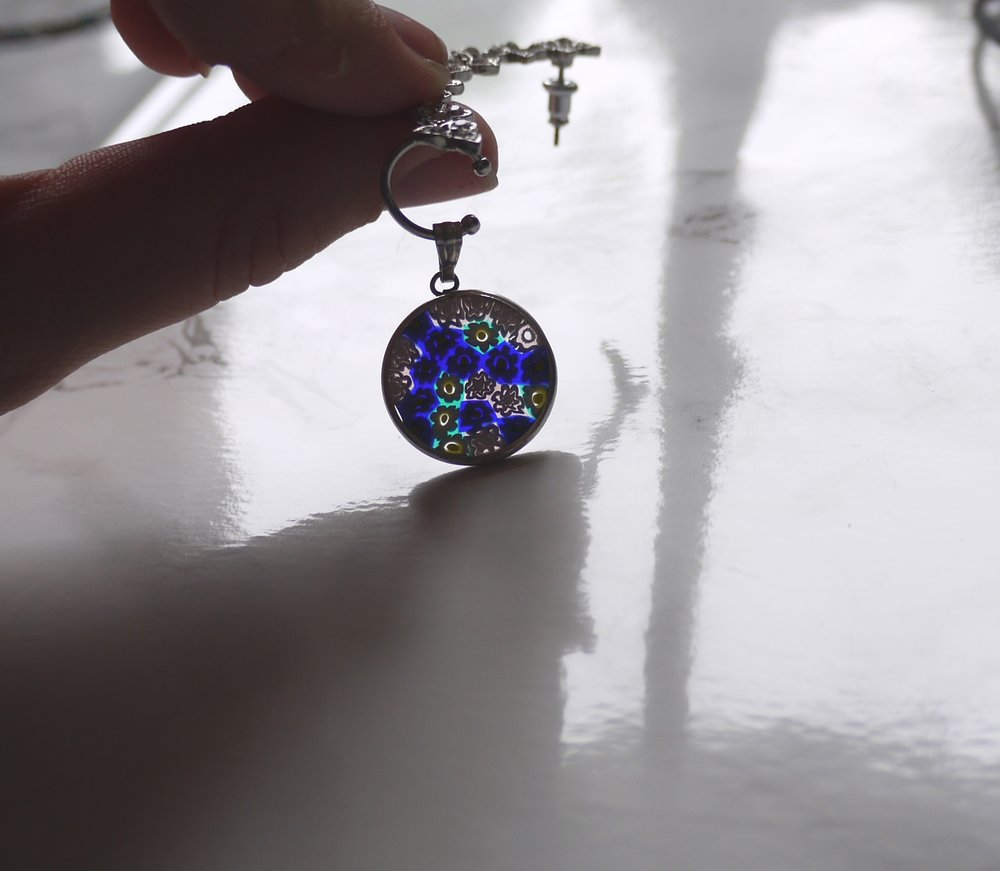 A gorgeous Venetian pendant...can't have been more than three euros!