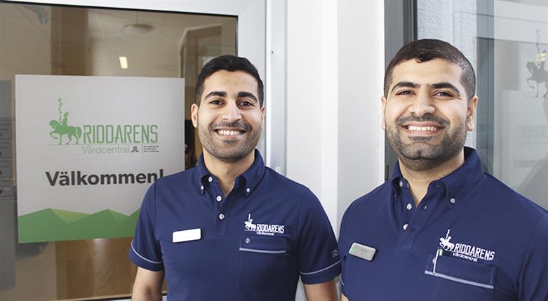 Läkarna och bröderna Mohammad och Hammad Al-Saaid driver Riddarens Vårdcentral.
