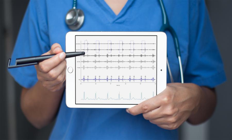 Korrelera hjärtljud med EKG. - I Coala Care Portalen finns ett digitalt phonocardiogram som korrelerar EKG- och ljudinspelningen för att ge tolkningsstöd för att hitta t ex tecken på blåsljud.Läs mer om Coala Care Portalen här.