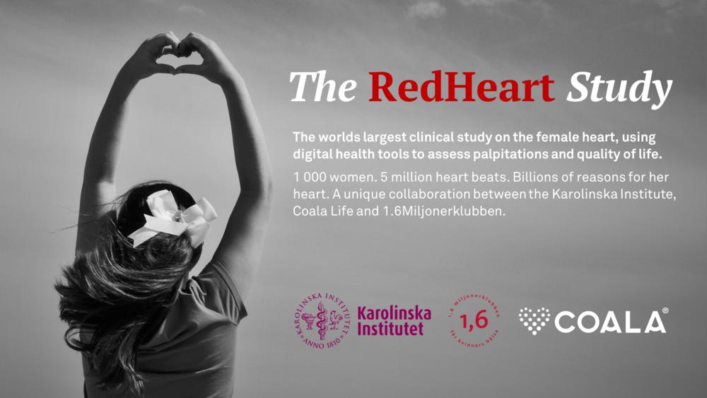 Möjliggör banbrytande, digitala kliniska studier. - Med Coala finns unika möjligheter att effektivt fånga stora mängder data under längre tid från populationer i vardagen.Läs mer om The RedHeart Study här.