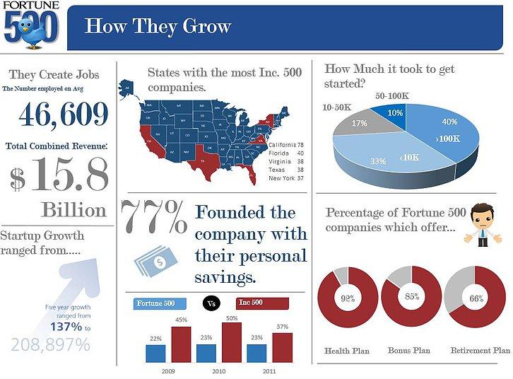 500 Companies Excel Infographic