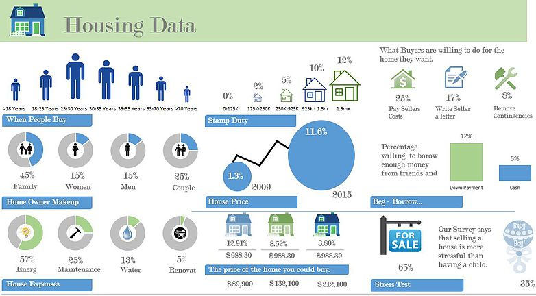 Excel Infographic Housing