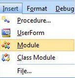 Excel VBA Module