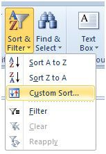 Excel custom sort with vba excel dashboards vba and more on the home tab choose sort filter ibookread PDF
