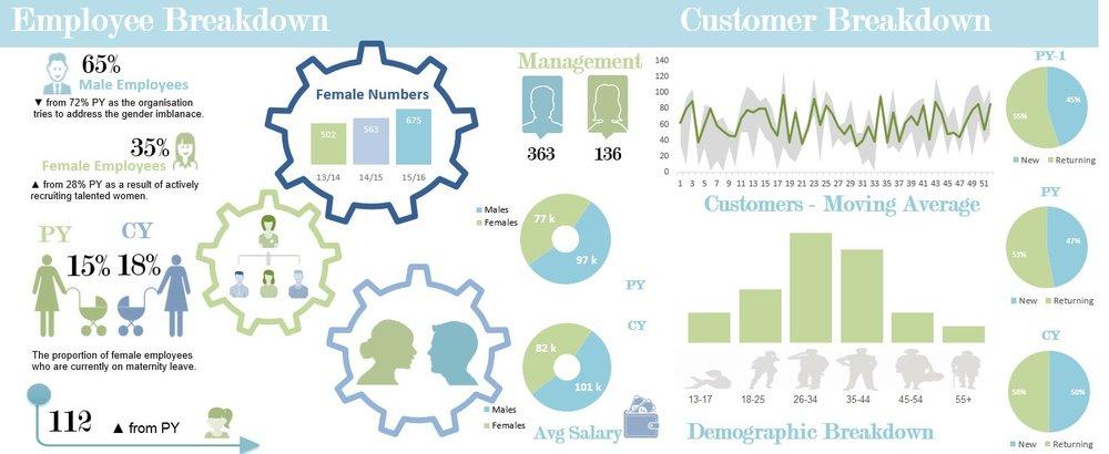 Excel Infographic Gender