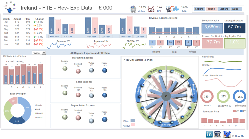 Revenue Excel Dashboard