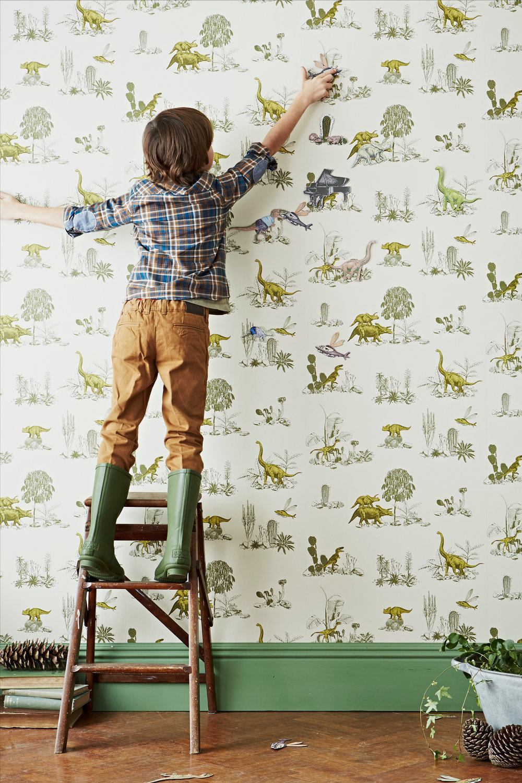 Dino Magnetic Wallpaper Yellow Green play Sian Zeng.jpg