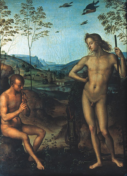 Apollo and Mars, Perugino c1495.jpg