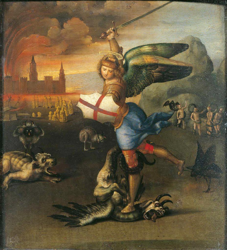 Raphael, Saint Michael, c1504.jpg