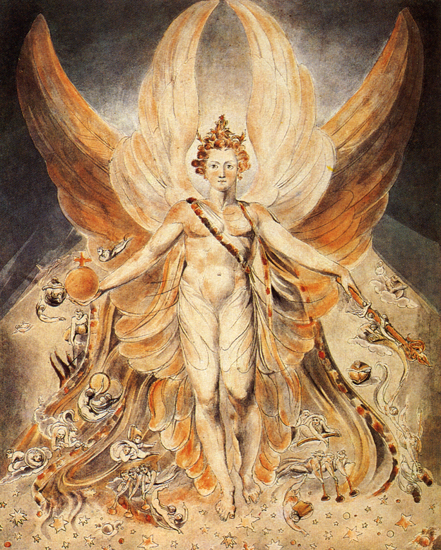 Satan in his original glory, William Blake 1805.jpg