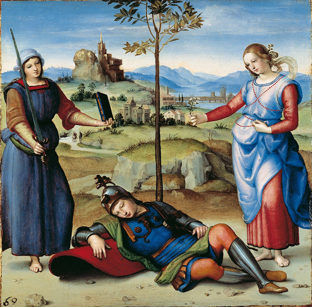 Vision of a Knight, Raphael 1504.jpg