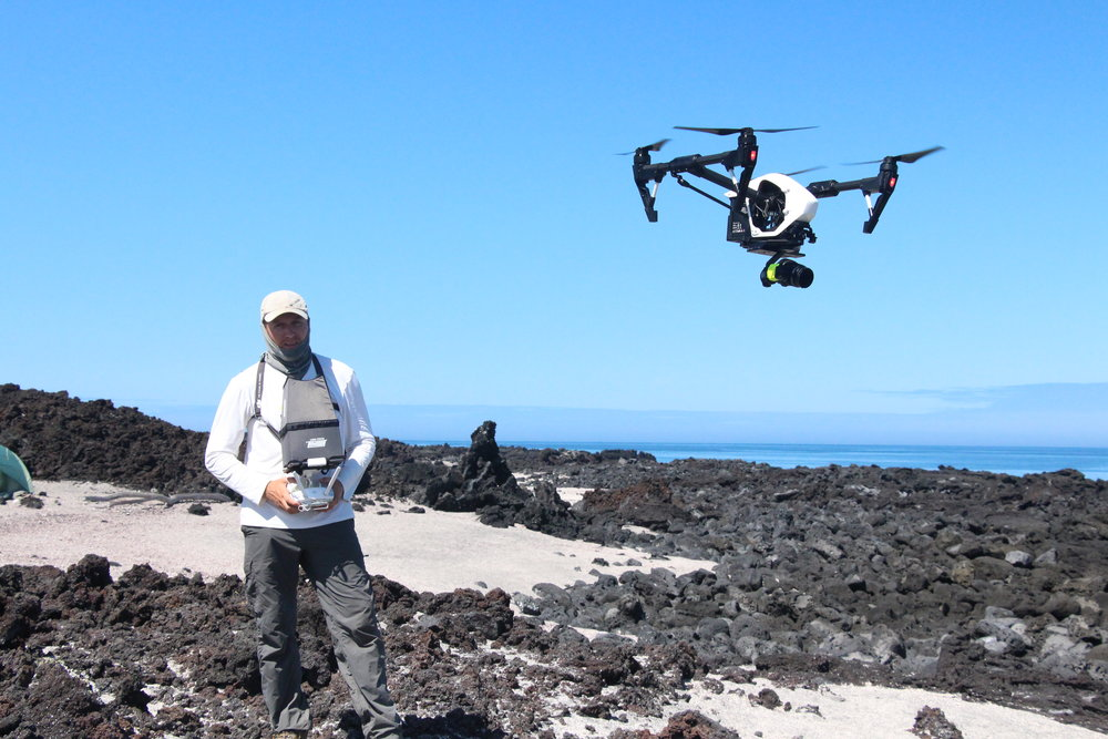 Filming with DJI Inspire 1 Drone in the Galapagos Islands for 'BLUE PLANET 2 - COASTS'