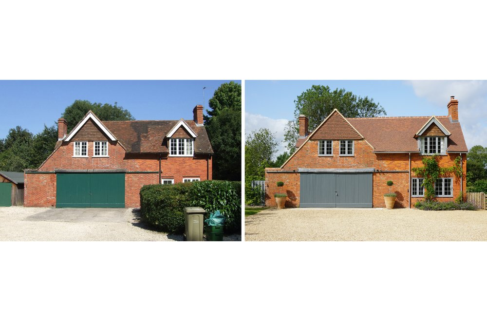 Copy of Before and after shots of the garage building at Windrush House