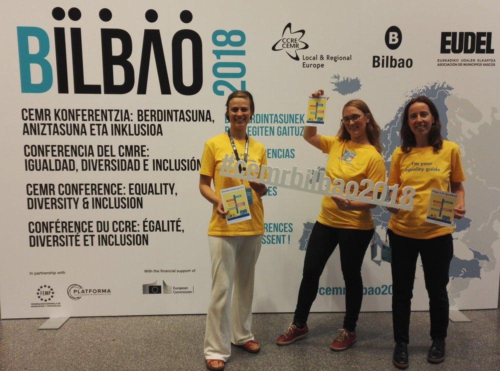 From left to right: Malin Gustavsson (Ekvalita), Christina Alhzén (Medida) and Laura Viñuela (Espora).