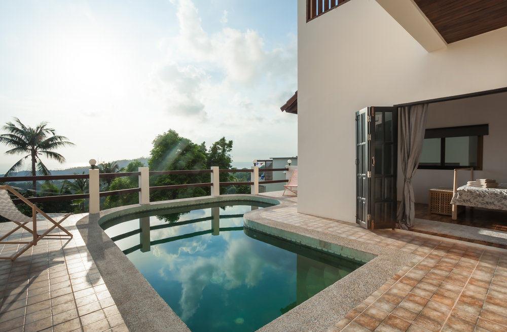 With a gorgeous swimming pool overlooking the sunset sea this large three bedroom villa is a perfect holiday retreat each beautiful bedroom benefits from