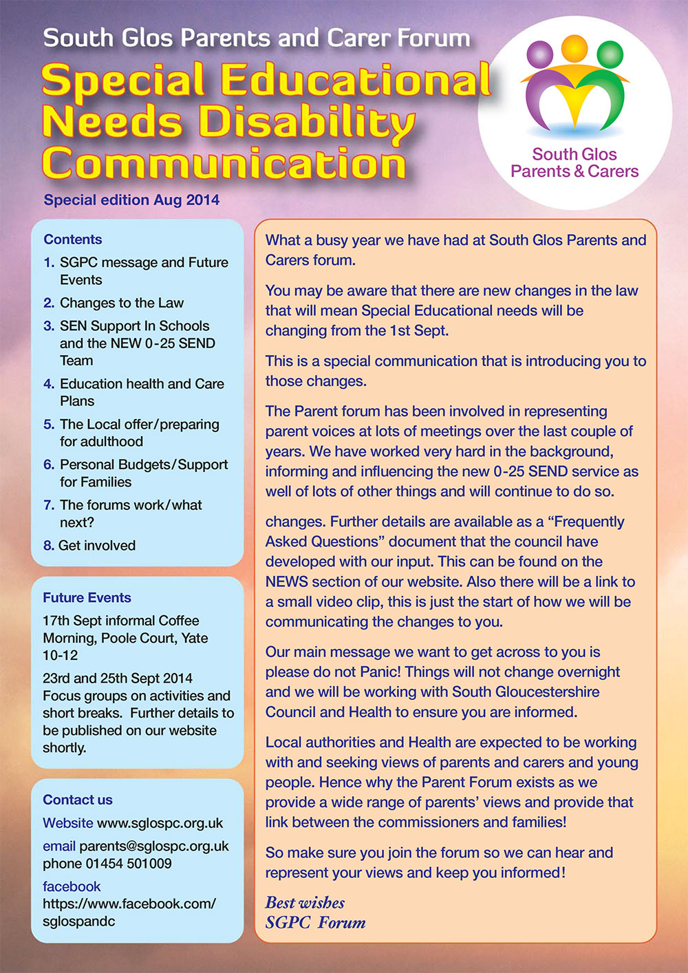 Special Education and Needs Disability Communication Brochure
