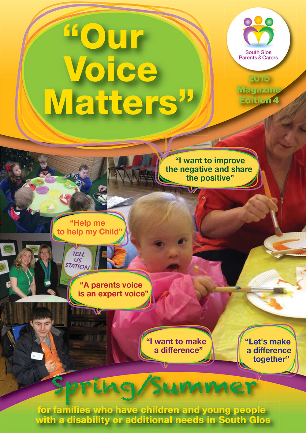 Our Voice Matters Magazine Cover