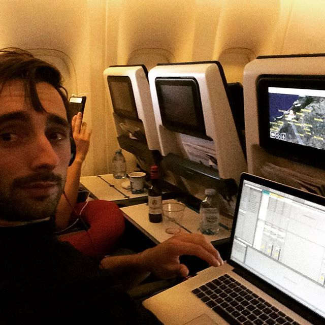 Composing in the plane to Brazil #ableton #techno #club #clubnight #playground #eindhoven @tromppercussion #klm