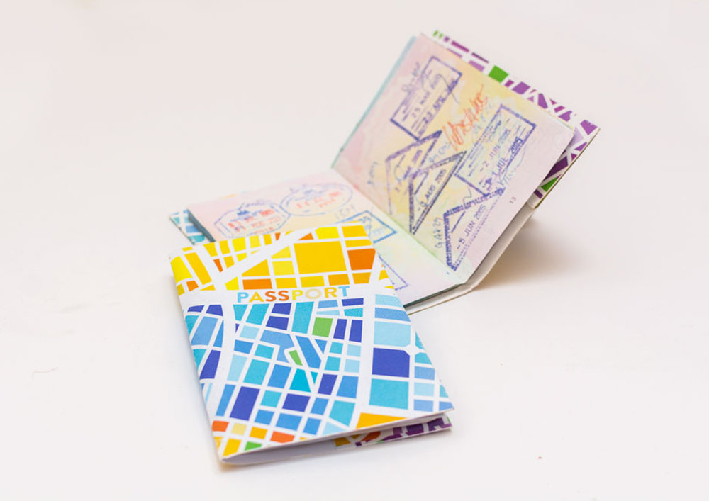 You can cross any border* with these design PASSPORT COVERS in your pocket.  *Passport not included. :)