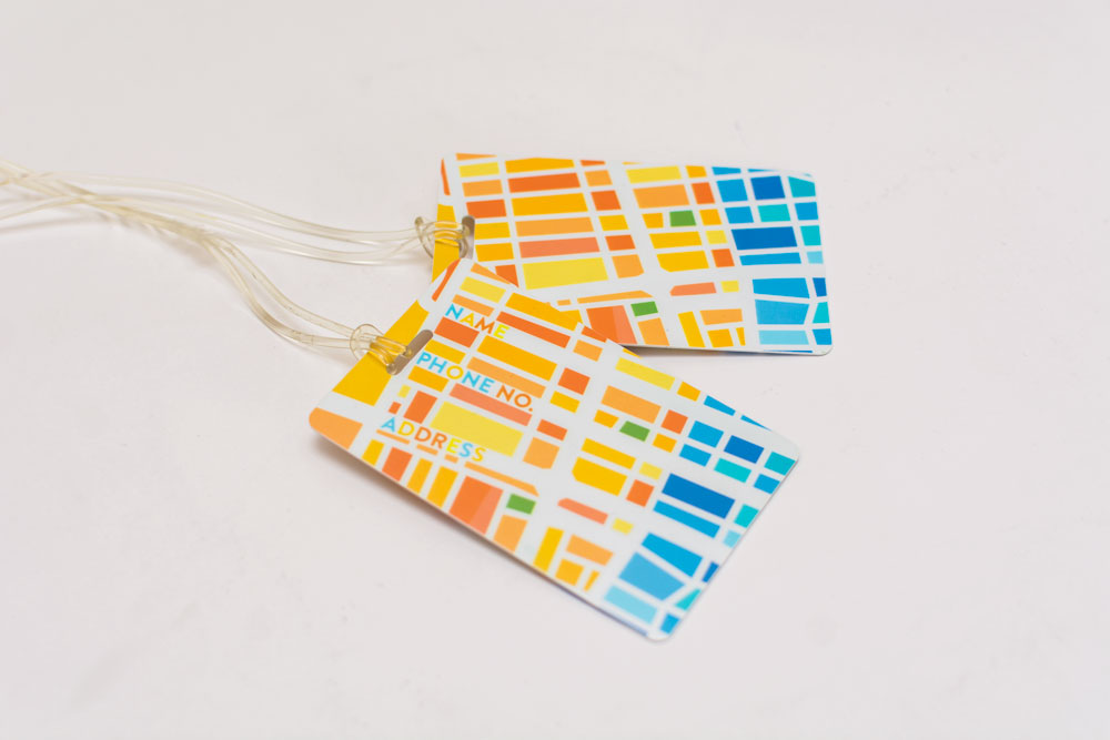 No luggage left behind with EggMap's custom-made LUGGAGE TAGS. Get packing!