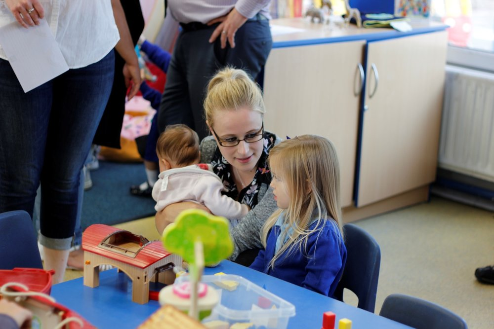 Parents stay and play in Nursery