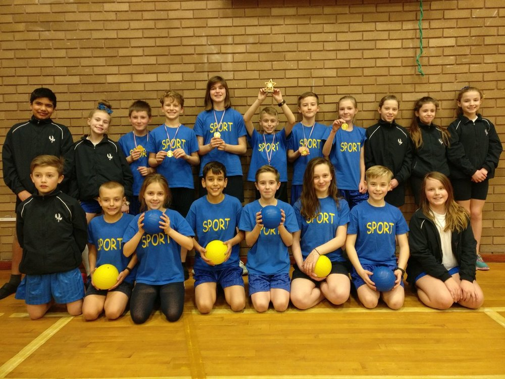 Dodgeball tournament winners and our Sports Leaders put on a great tournament