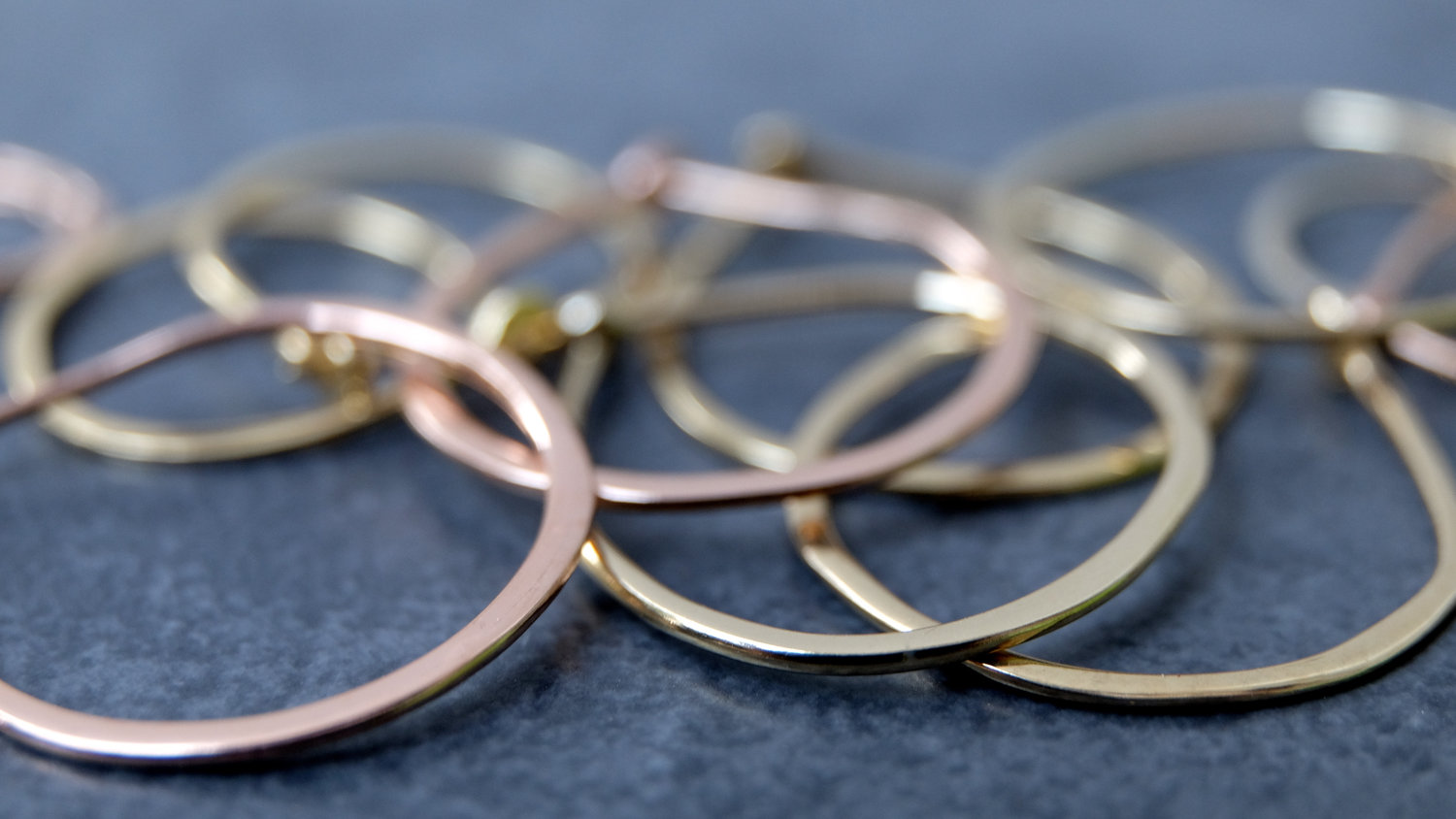 Handforged, Solid Gold Hoop Earrings The Ultimate Luxury Perfect For  Every Day