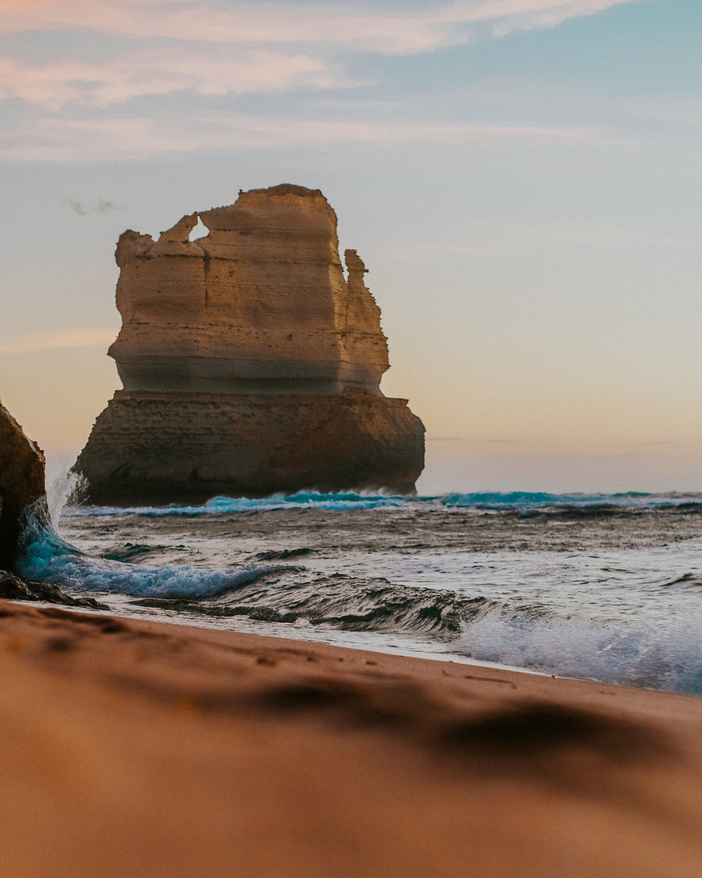 Views from the shore at the Twelve Apostles.