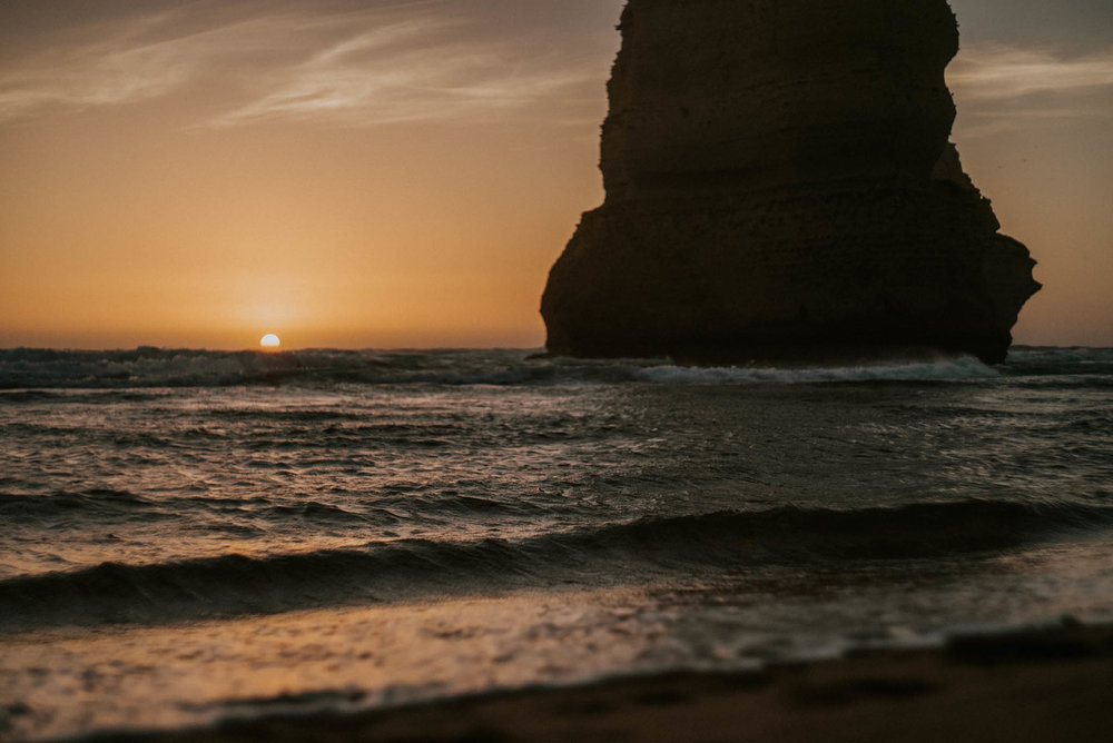 Sunset Views from one of the Twelve Apostles.