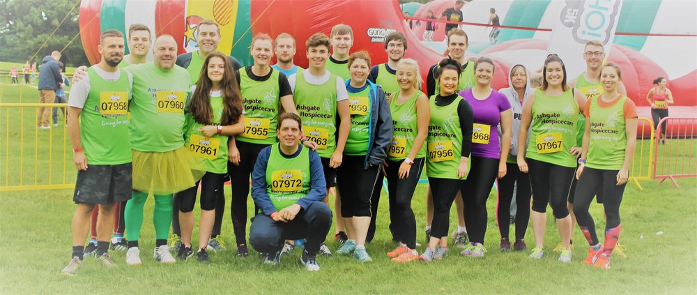 Team AAG Systems run the Gung Ho! 5k Inflatable Obstacle Course for Ashgate Hospicecare
