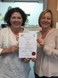 Our CEO Alexa Greaves and MD Michelle Walker proudly holding our latest ISO Certificate