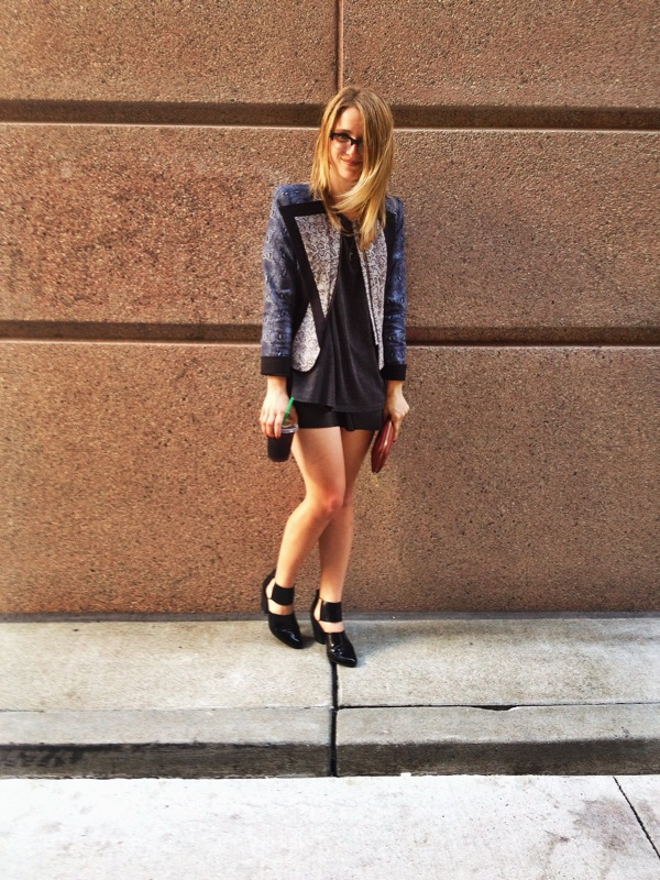 Jacket: BCBGeneration | Shirt: ON | Shorts: H&M | Shoes: F21