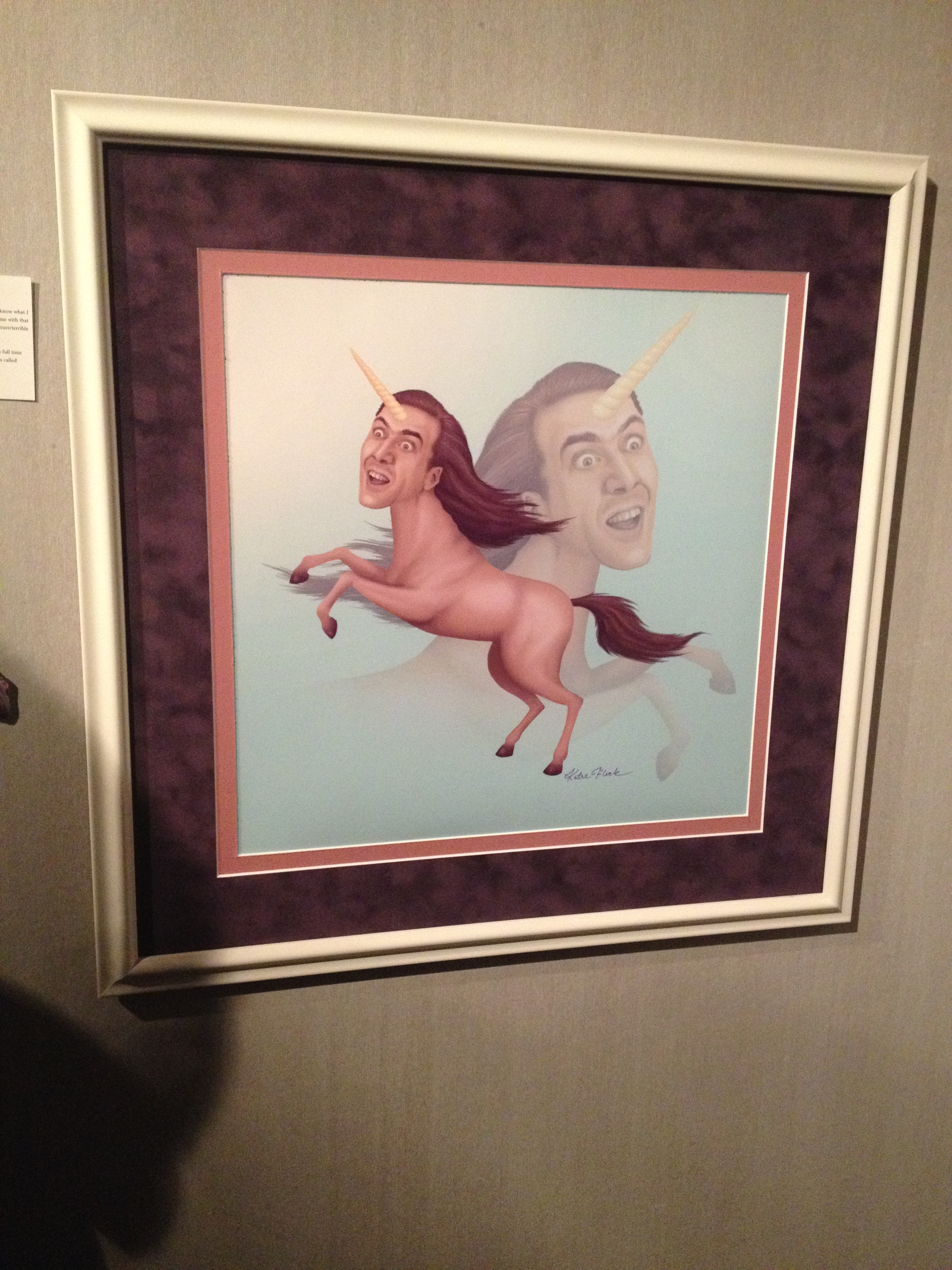 Oh, did I forget to tell you I went to a Nicolas Cage Art Show? This was the result.
