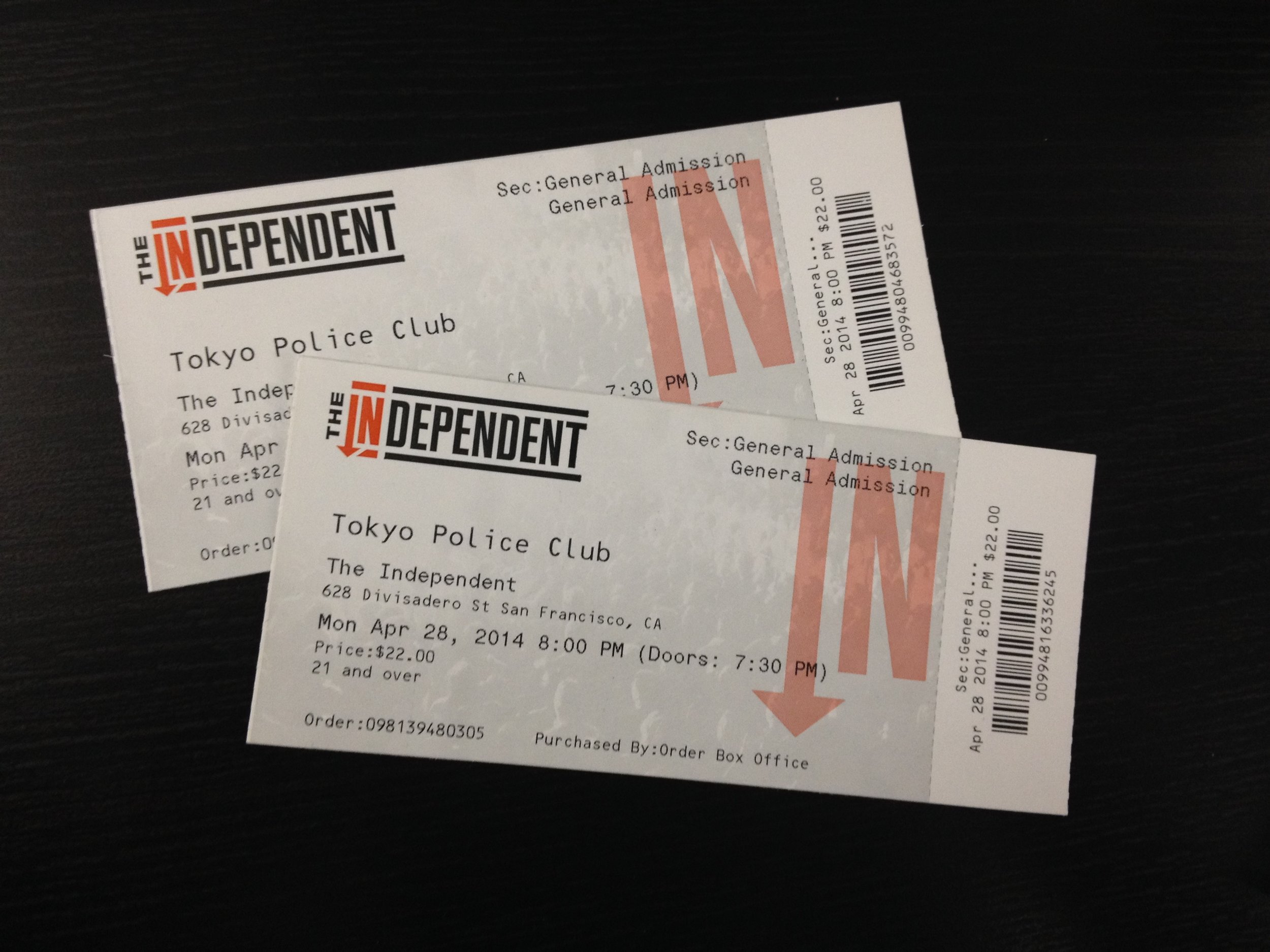 Scored tickets to see Tokyo Police Club definitely made my entire month.