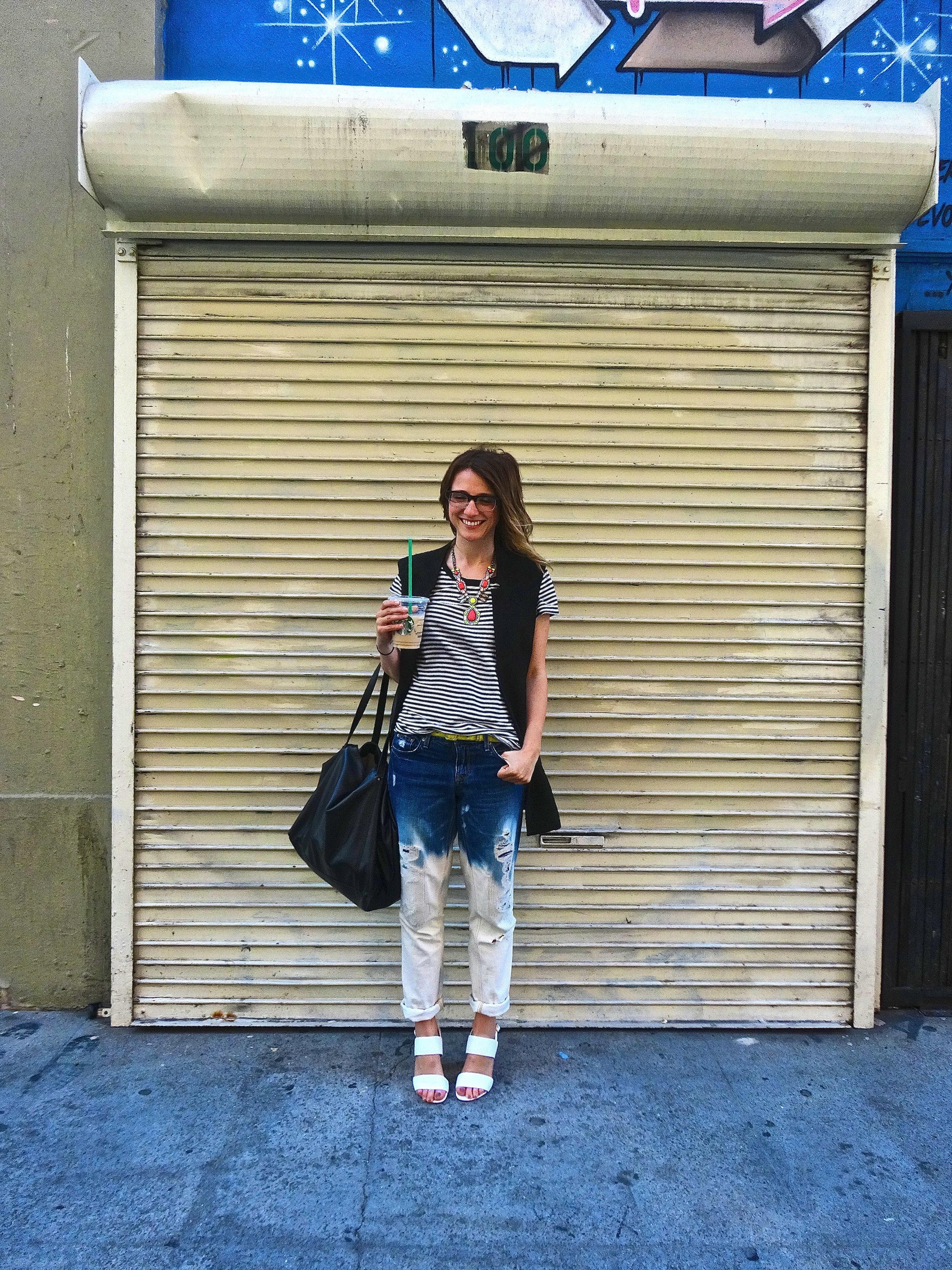 Shirt: Gap | Vest: F21 | Jeans: J.Crew via Crossroads Trading | Shoes: ShoeMint | Necklace: Unknown
