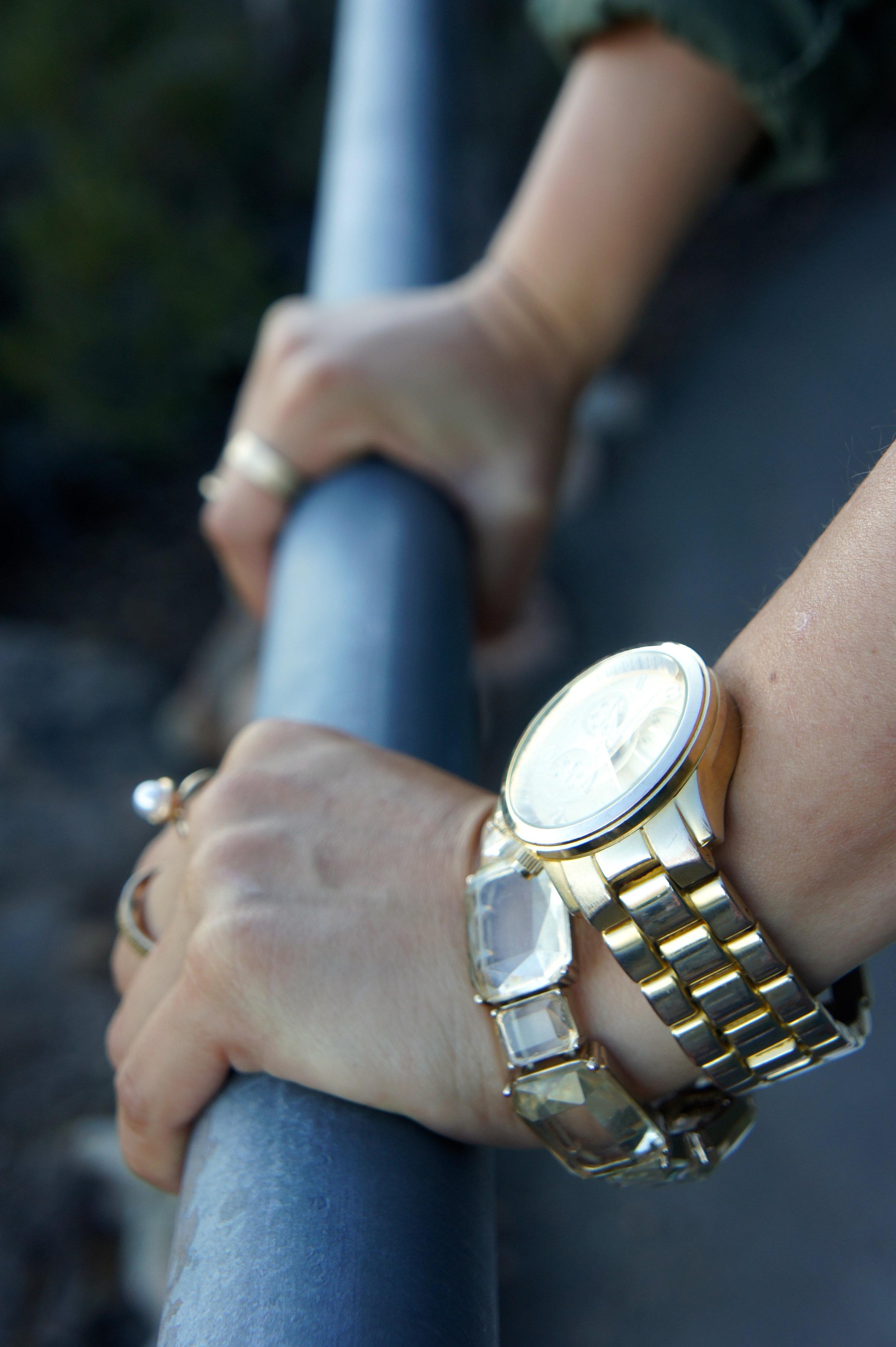 Watch: Kohl's | Bracelet: Banana Republic | Rings: H&M