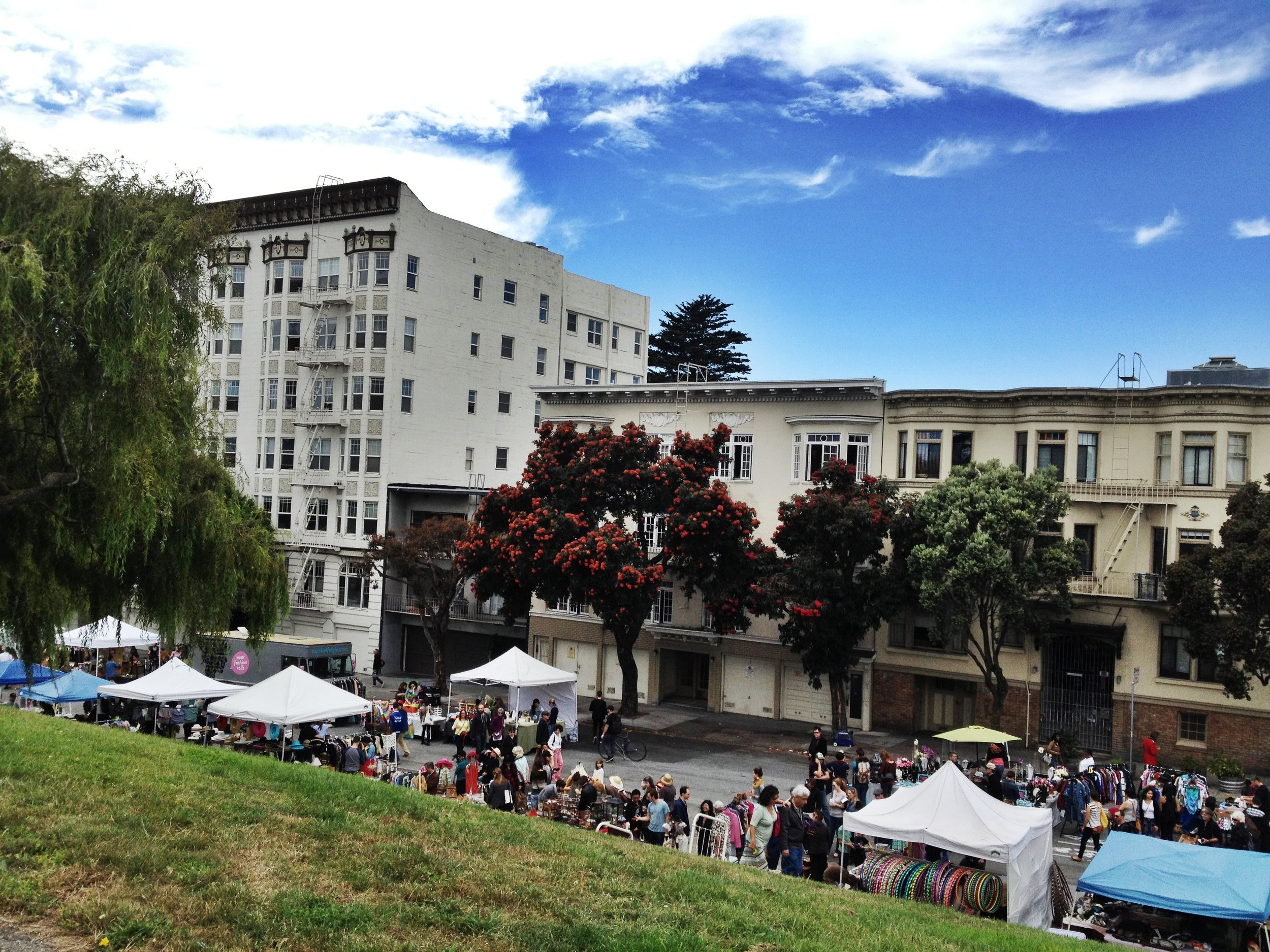 This year's Alamo Square Flea Market!