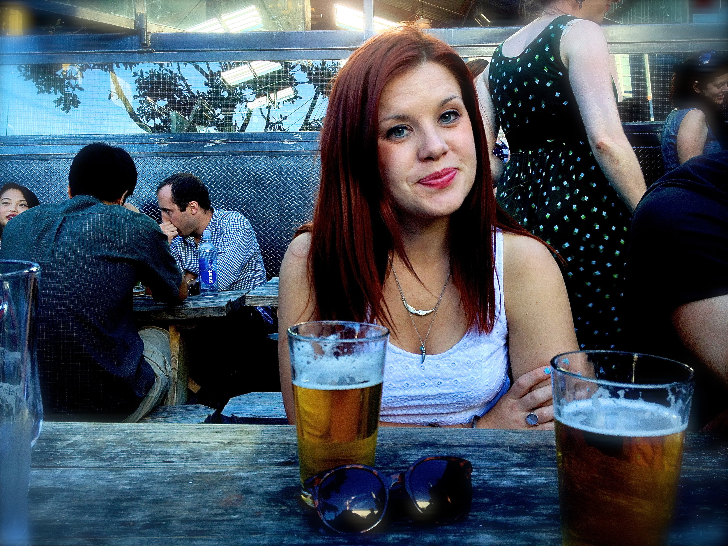 Friday afternoon beer with Andi at Southern Pacific.