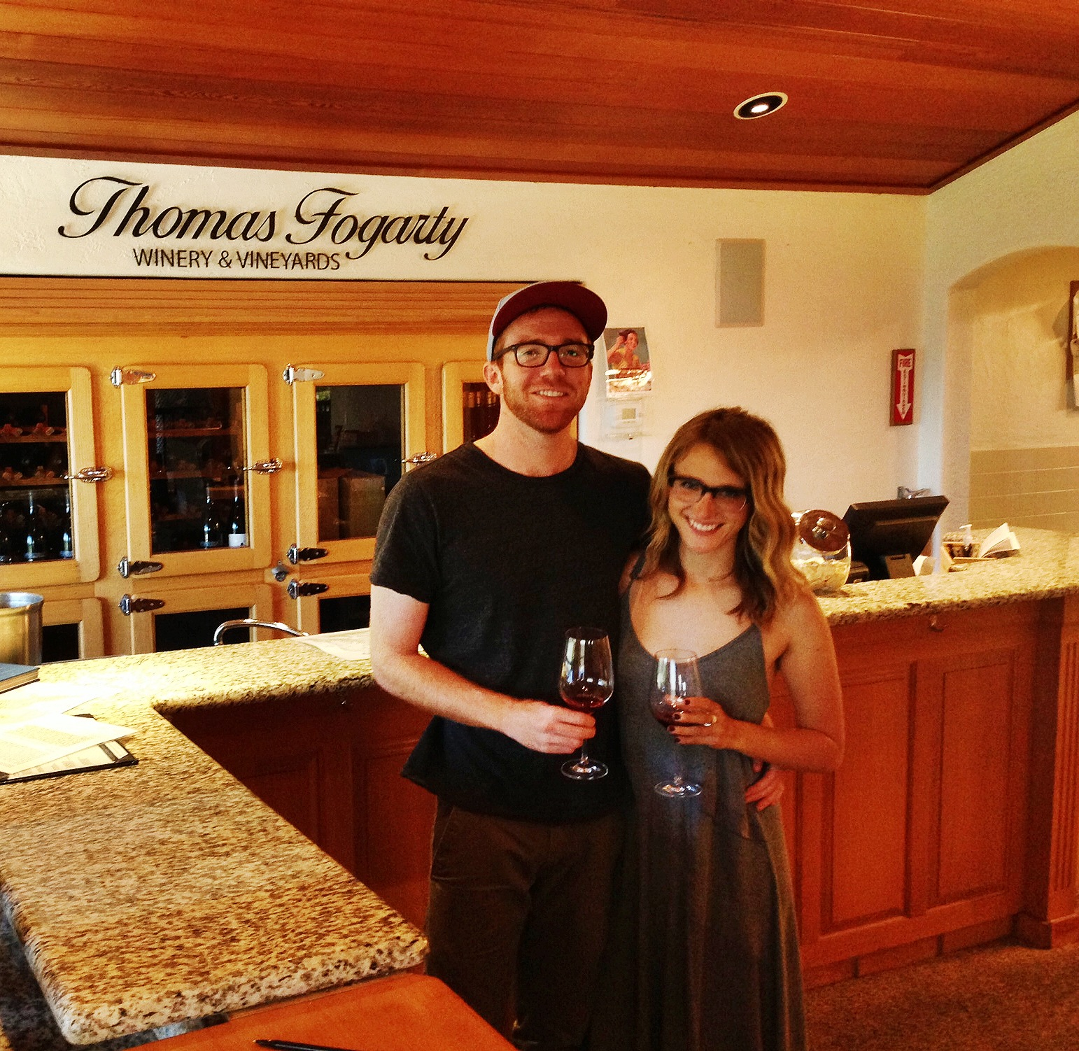 A little pit stop to Thomas Fogarty Winery this weekend.