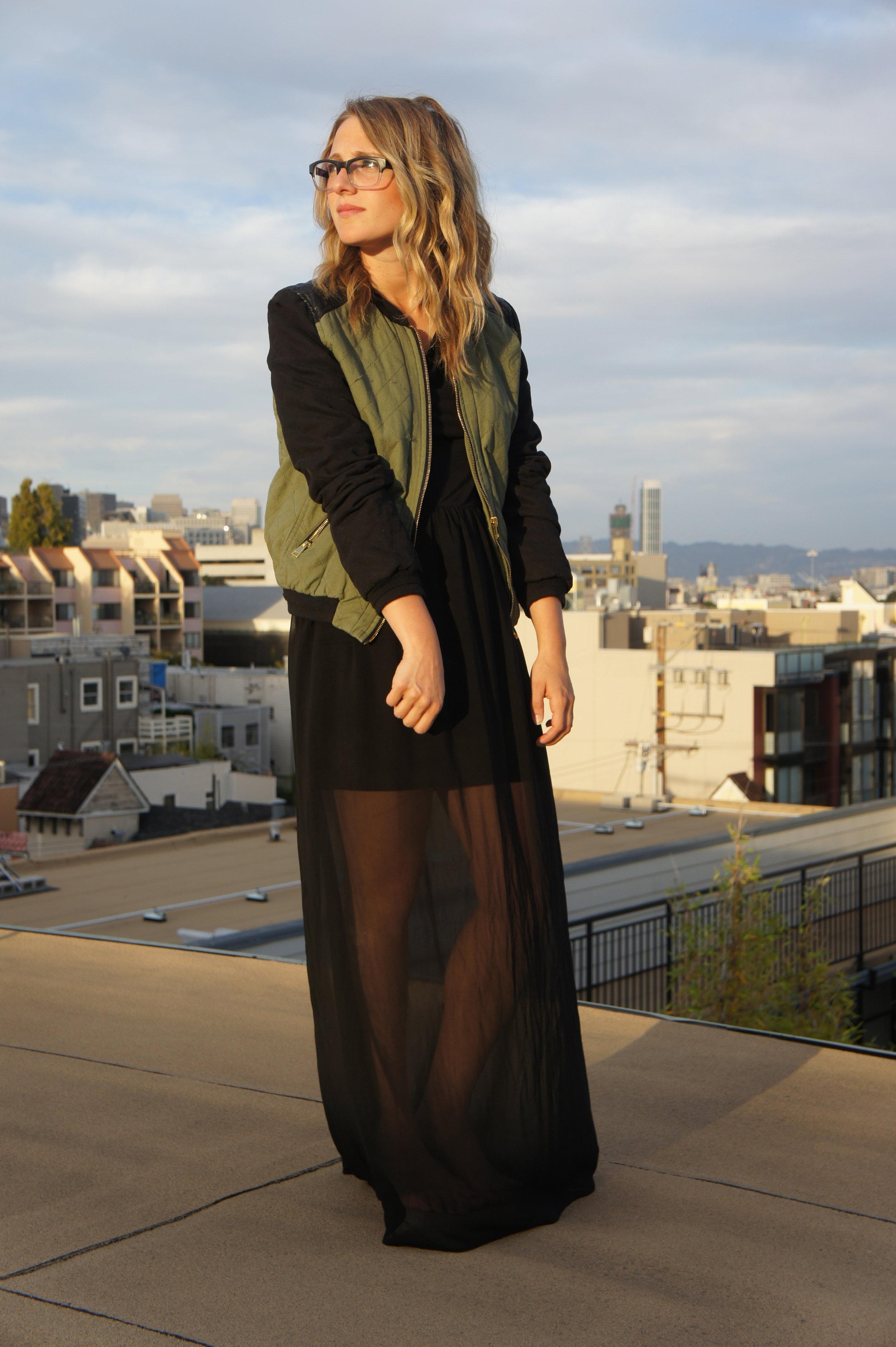 Jacket: Nasty Gal | Dress: F21