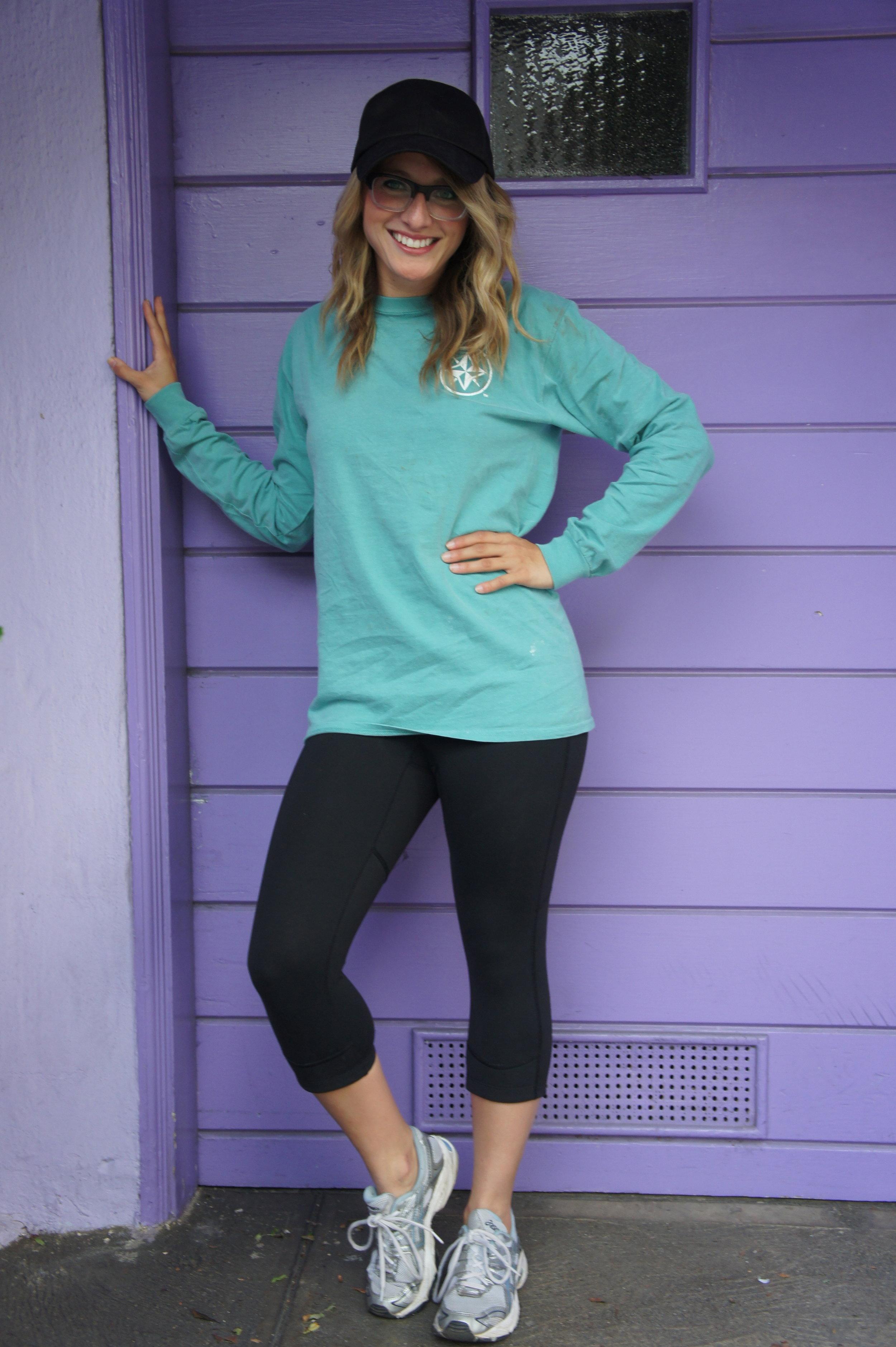 Shirt: American Island Co. | Pants: Jane | Shoes: Asics | Hat: H&M