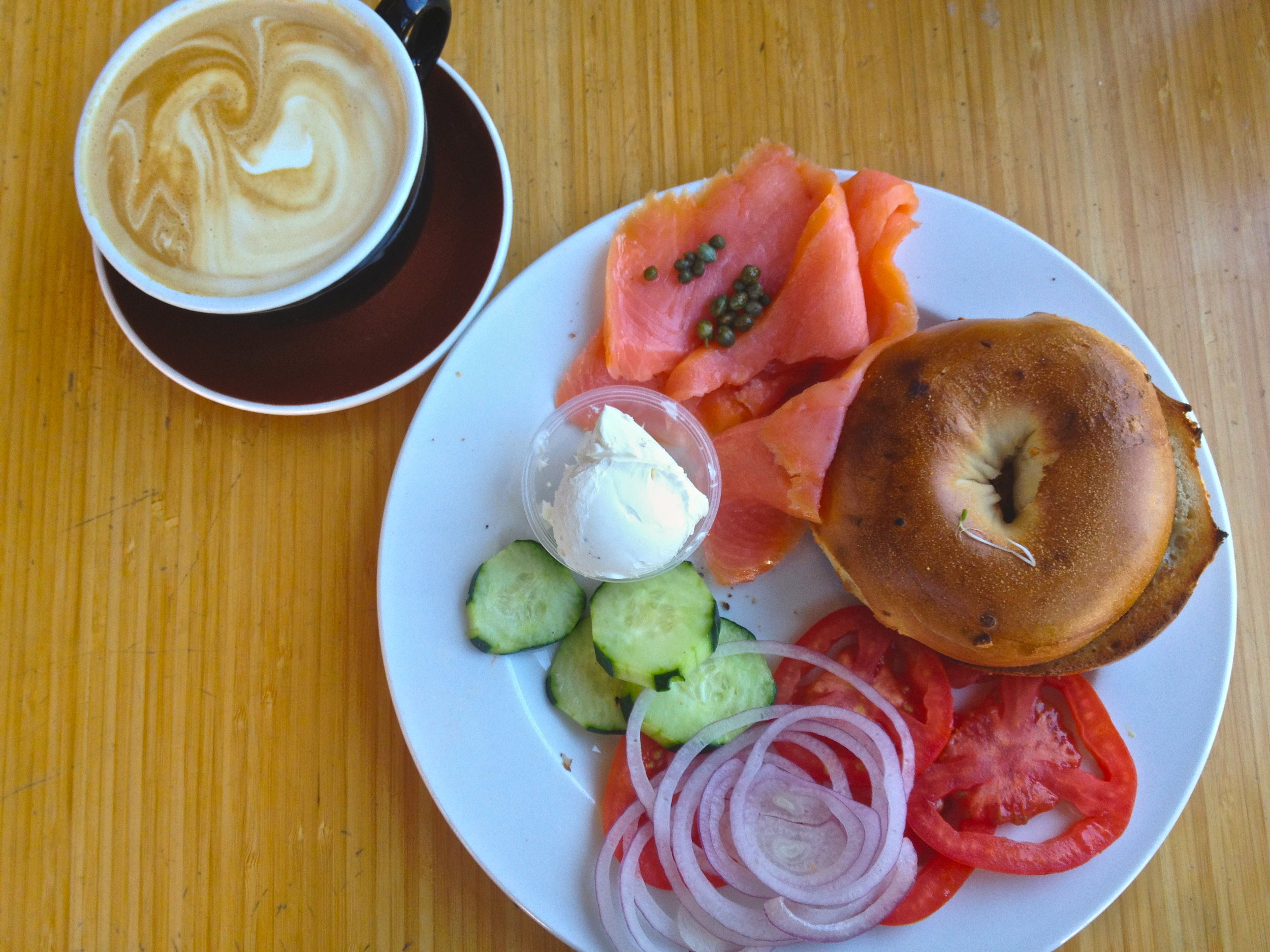 Nothing better than lox and a bagel.
