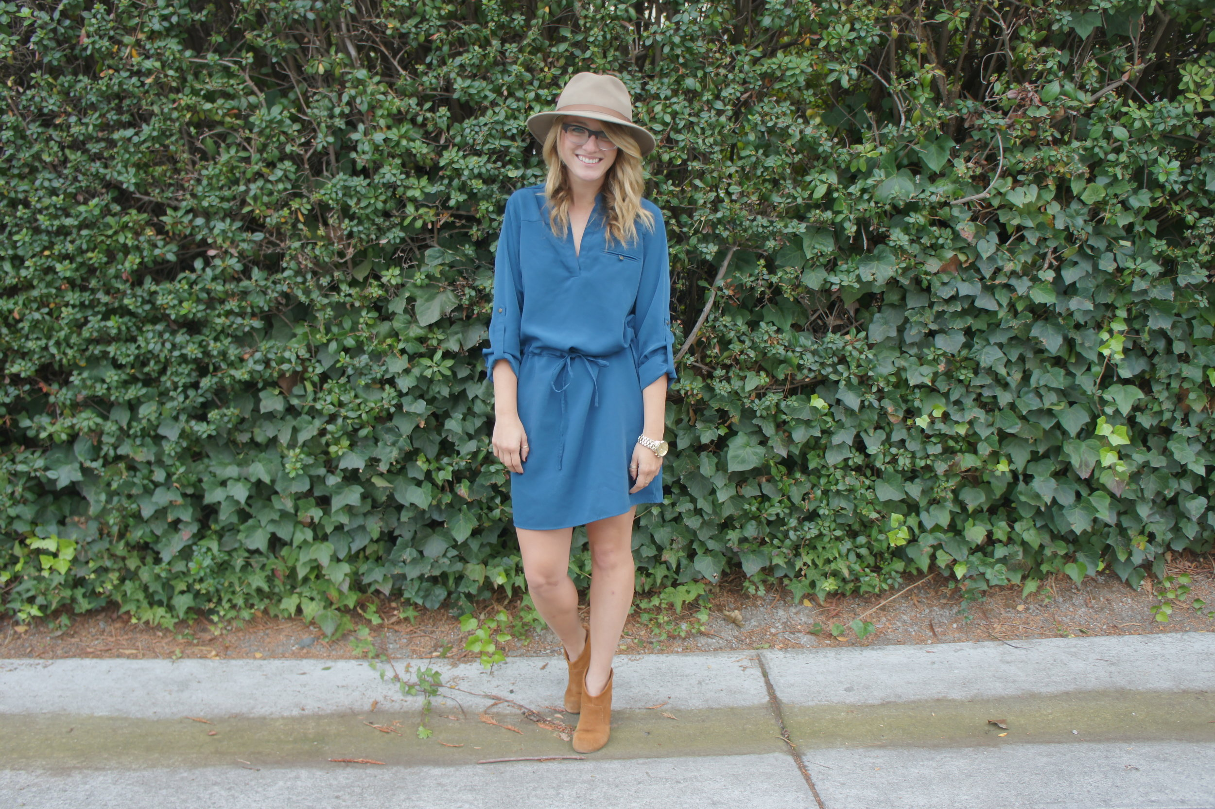 Dress: F21 | Hat: Sidewalk Fair | Shoes: Carlos Santana