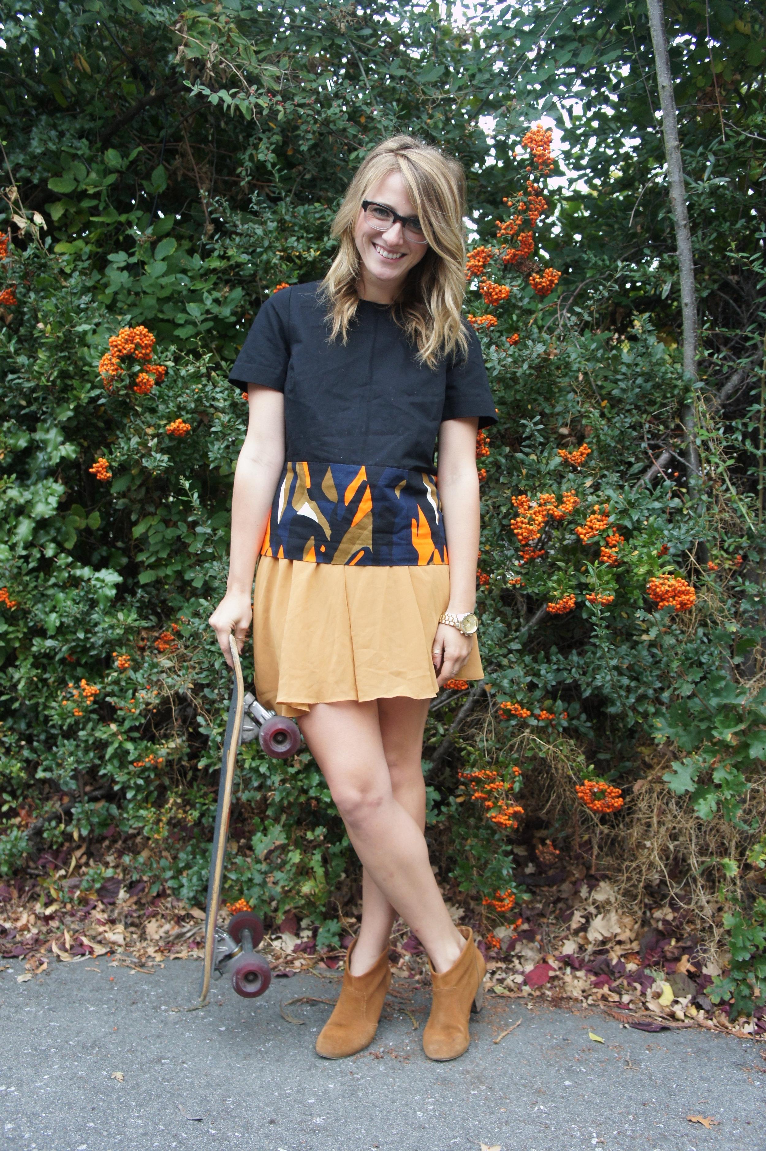 Shirt: Asos via Crossroads Trading | Skirt: F21 | Boots: Carlos by Carlos Santana